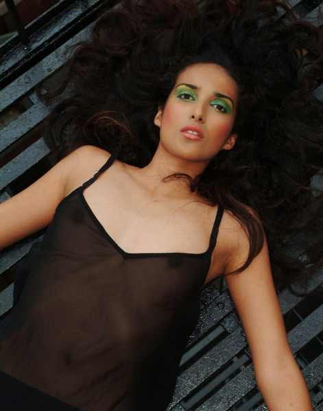 Makeup for designer lingerie shoot