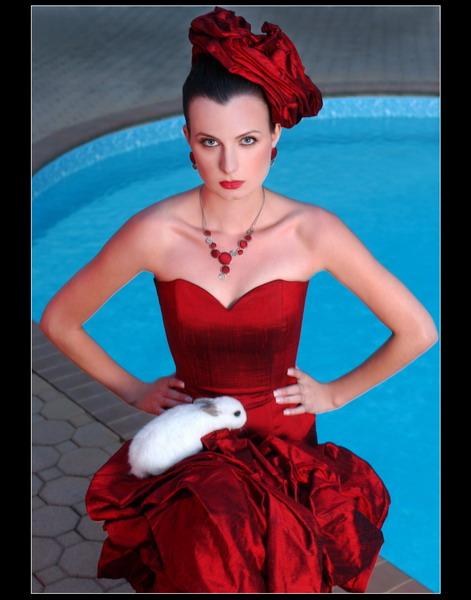 Makeup for designer's dress photoshoot In Hamptons
