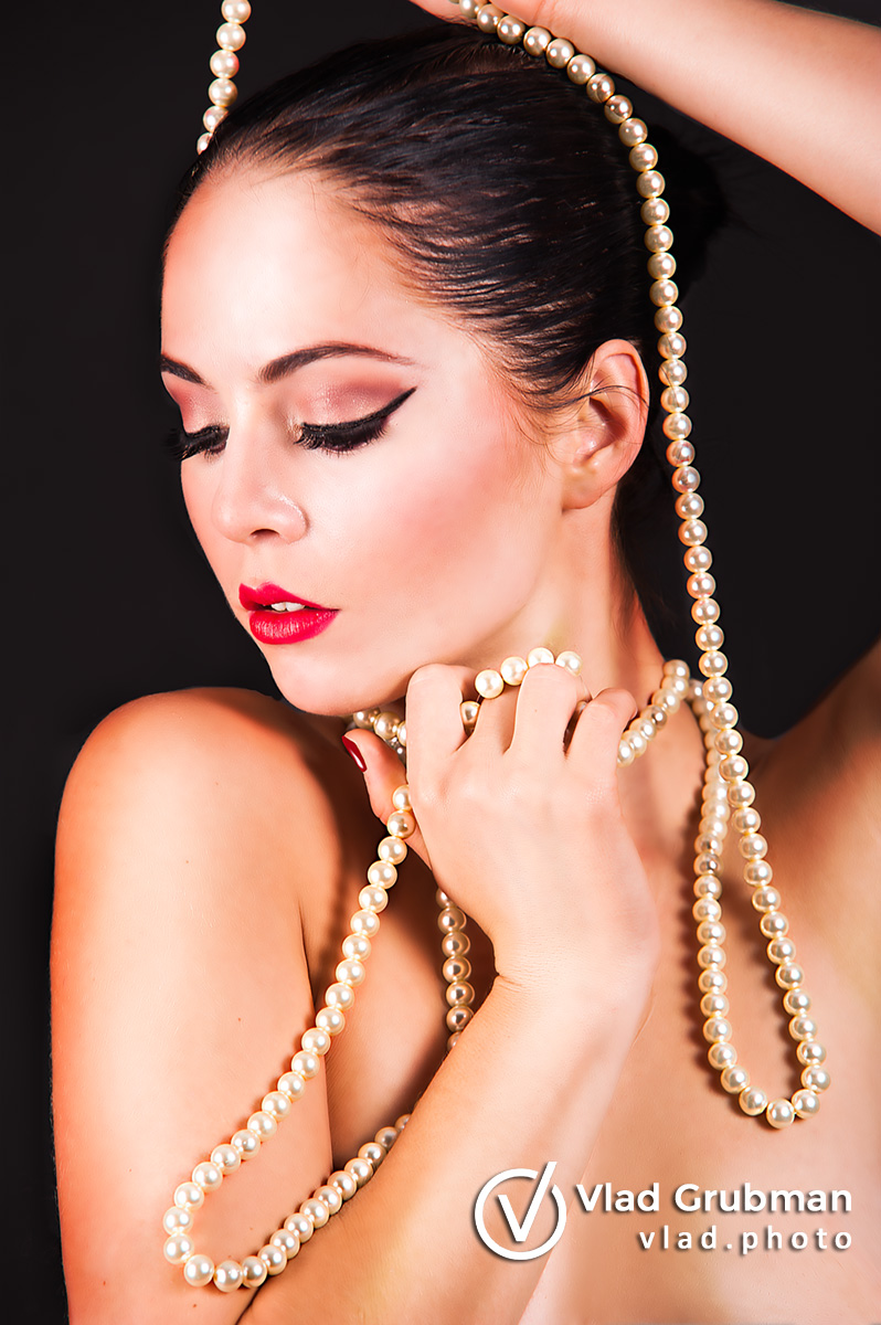Beauty And The Pearls - makeup by Renee Grubman