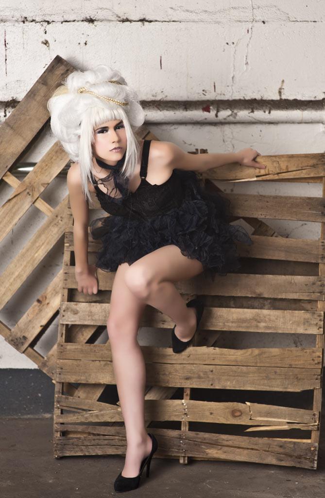 Makeup for designer shoot - Black Dress