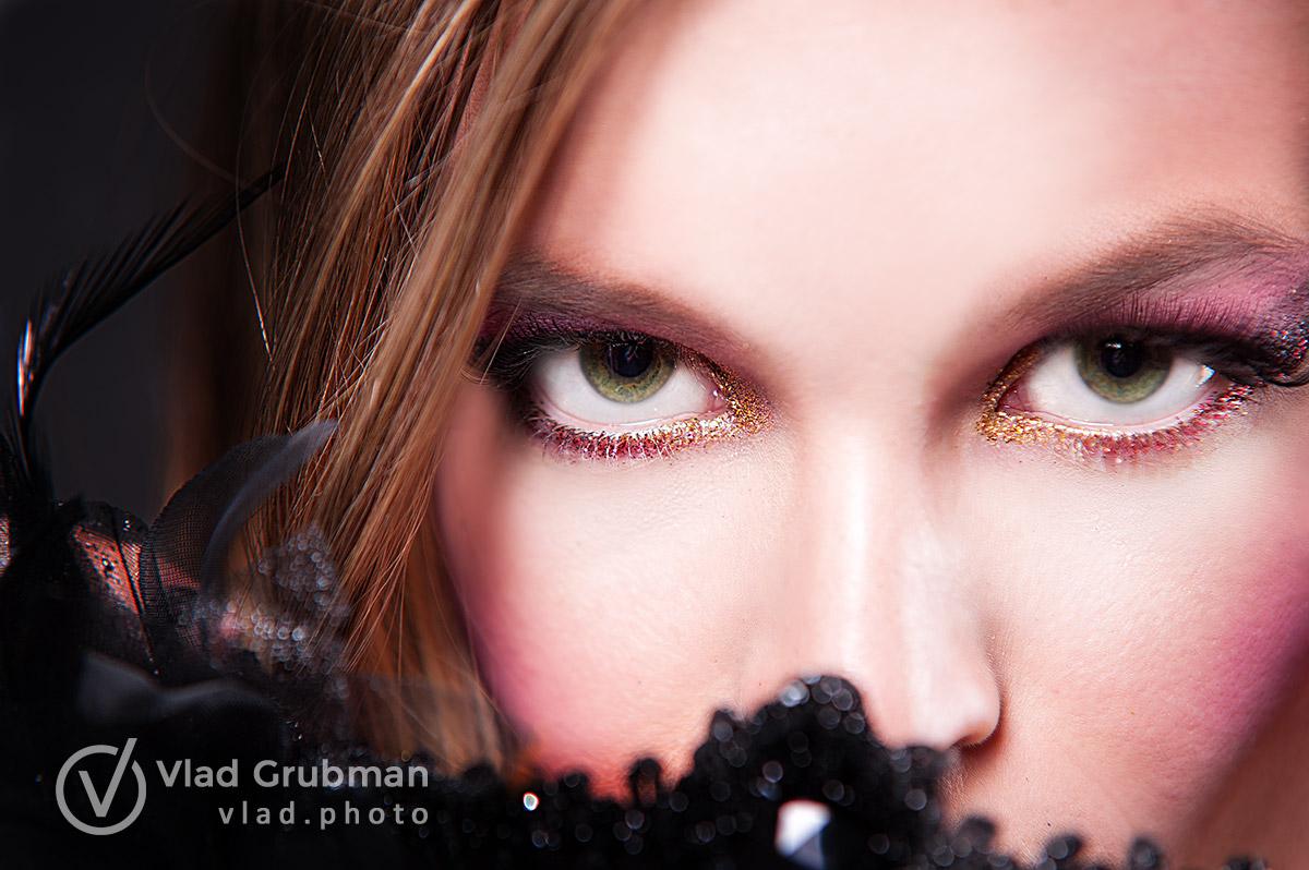 Editorial makeup shoot for a creative concept